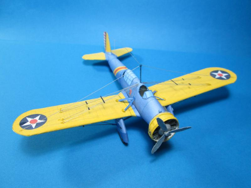 paper model of Curtiss A-12 Shrike airplane