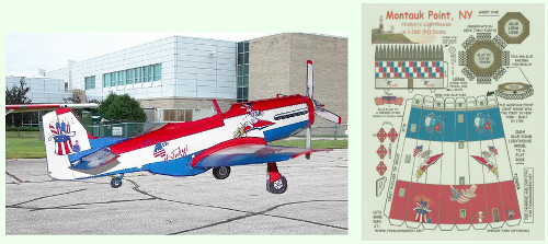July 4th P-51 and lighthouse paper model downloads